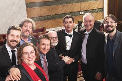 Juan Mayorga y académicos en la Real Academia Española 2019