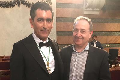 Juan Mayorga y Jesús Cimarro en la Real Academia Española 2019