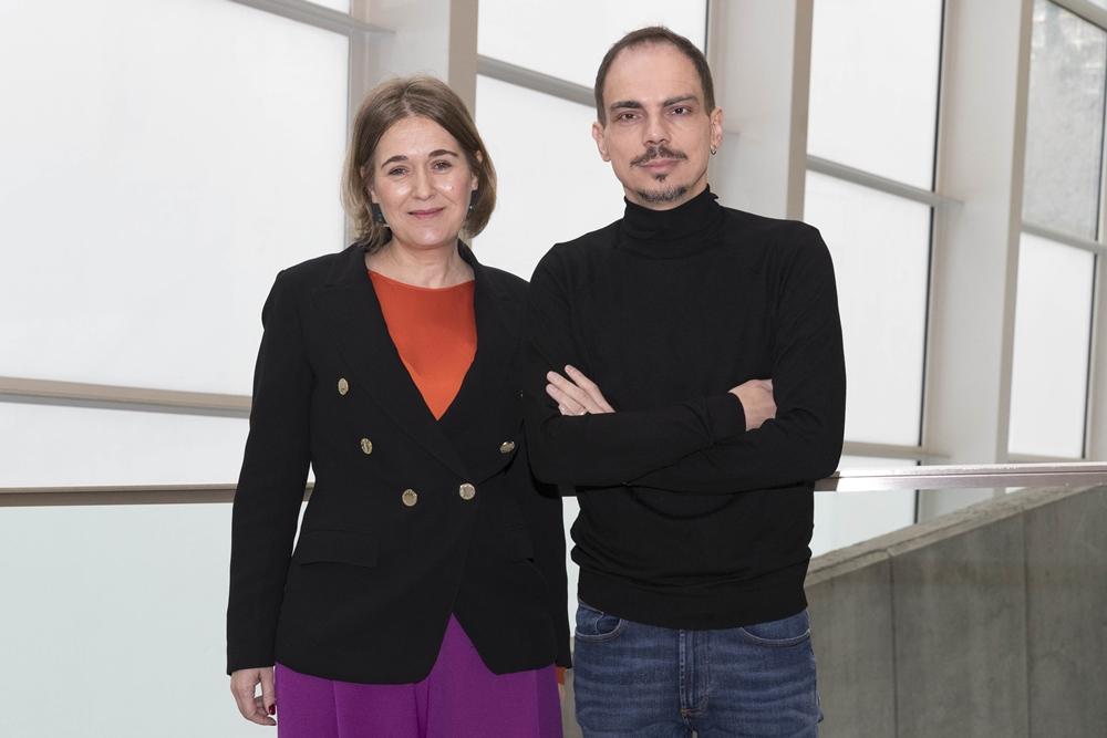 Alberto Conejero y Marta Rivera de la Cruz tras el nombramiento de Conejero como director del Festival de Otoño de la Comunidad de Madrid