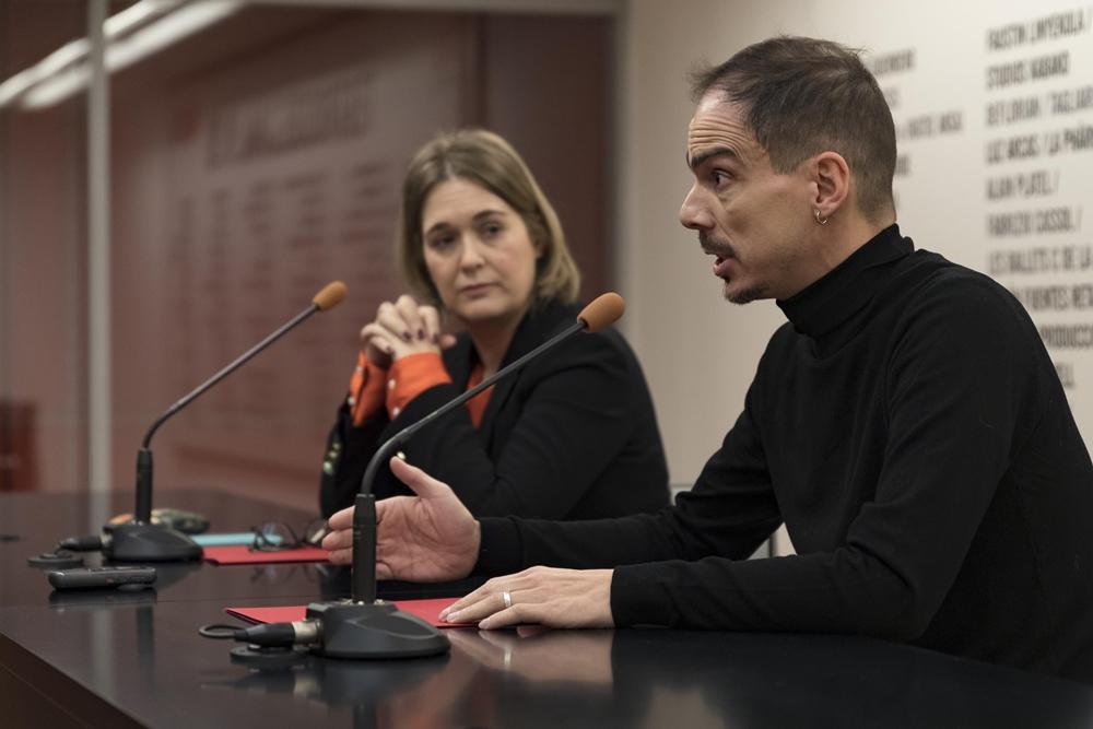 Alberto Conejero y Marta Rivera de la Cruz en la rueda de prensa del 16 de enero de 2020