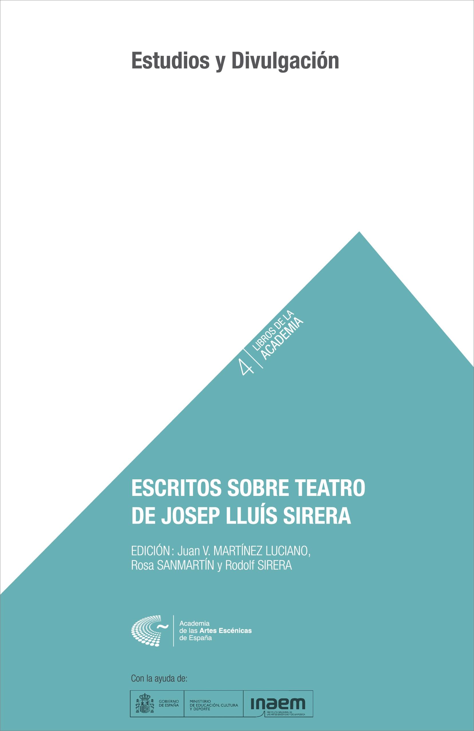 Foto de Escritos sobre teatro de Josep Lluís Sirera