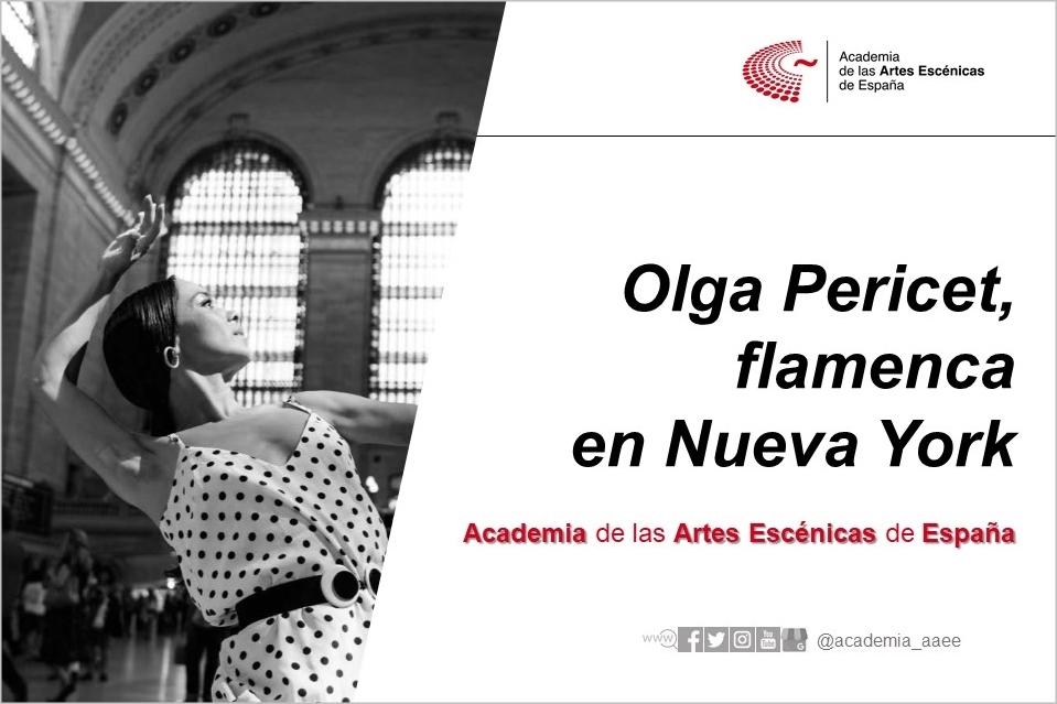 Foto de Olga Pericet, flamenca en Nueva York