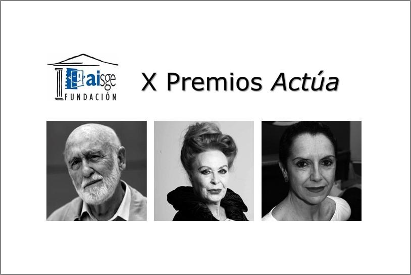 Foto de X Premios Actúa de la Fundación AISGE