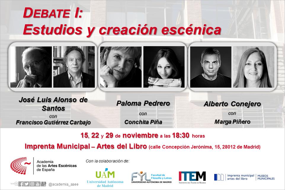 Foto de DEBATE I: ESTUDIOS Y CREACIÓN ESCÉNICA