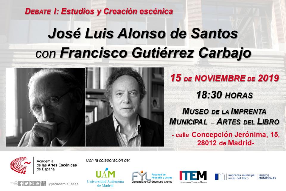Foto de Debate entre FRANCISCO GUTIÉRREZ CARBAJO y JOSÉ LUIS ALONSO DE SANTOS