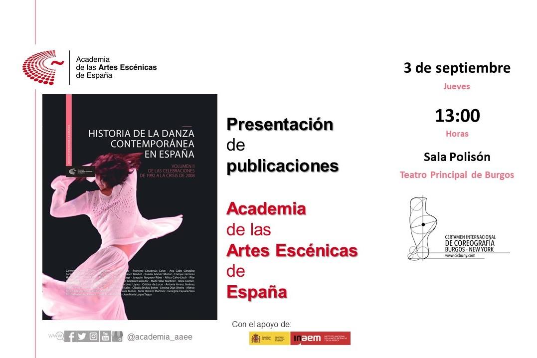 """Foto de Presentación en Burgos de """"Historia de la danza contemporánea en España"""" (volumen 2)"""