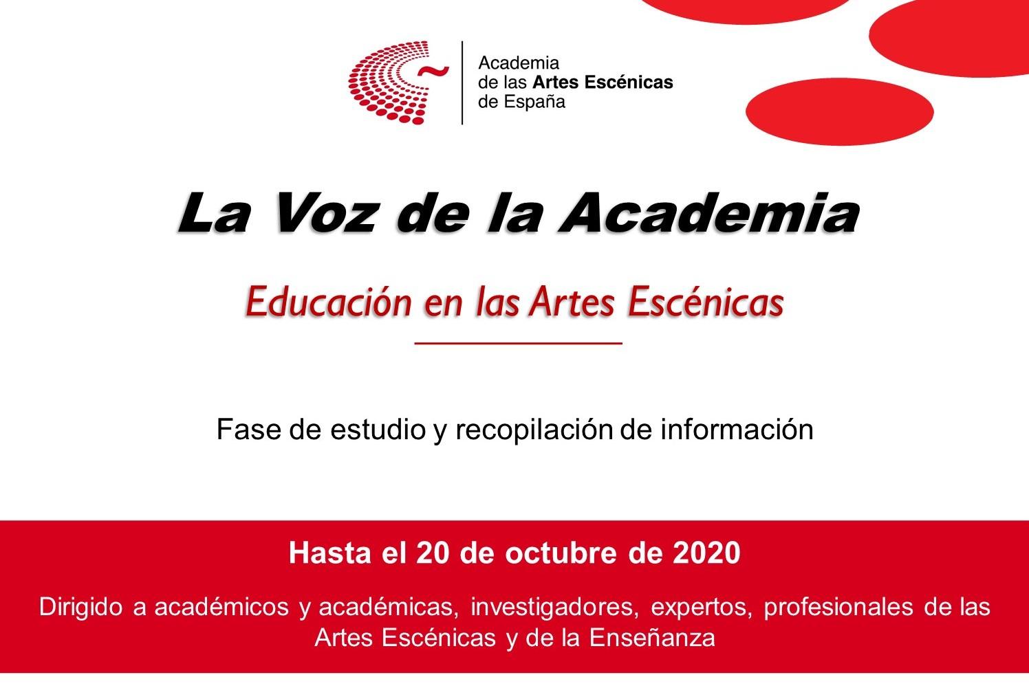 Foto de La Voz de la Academia: Educación en las Artes Escénicas