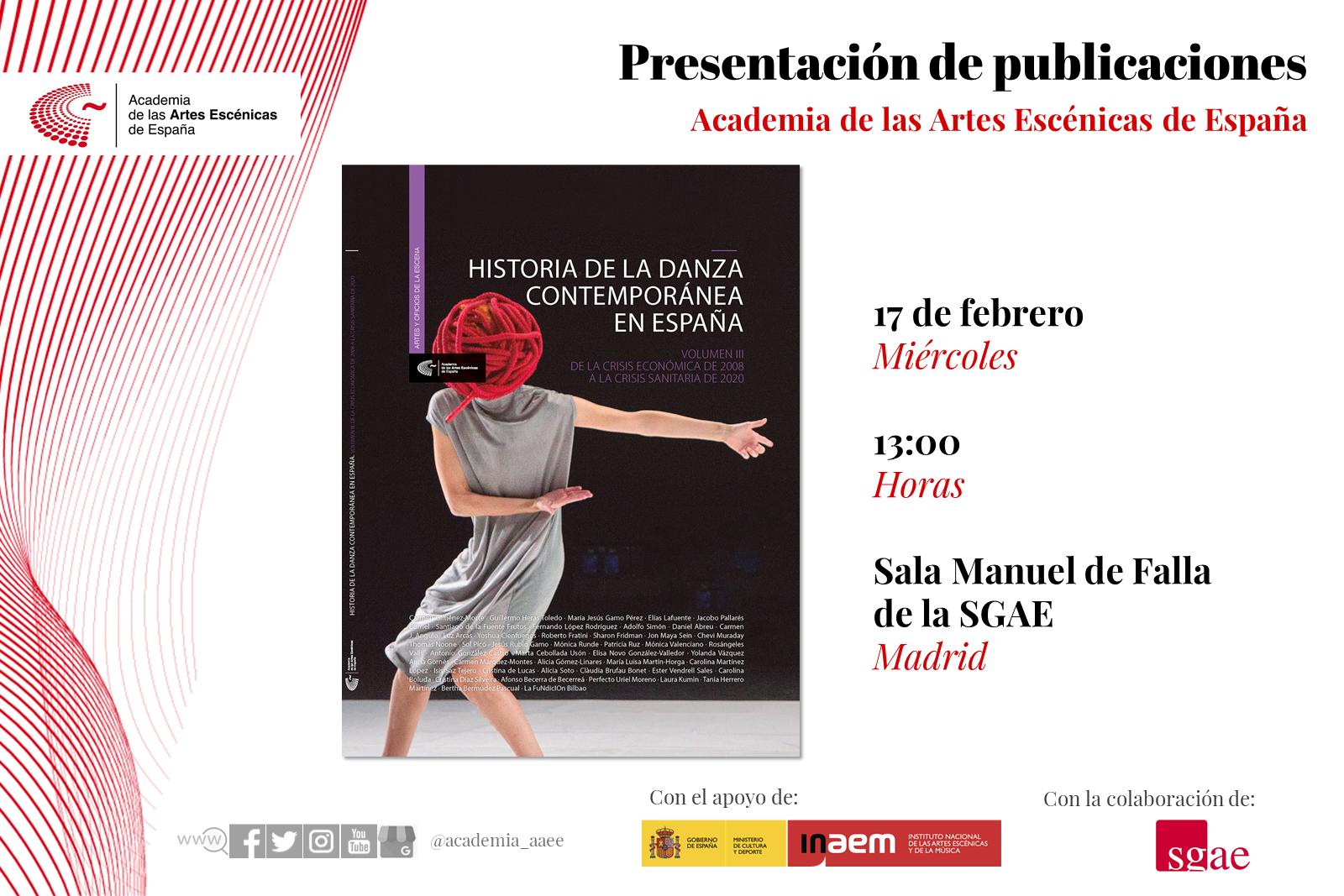 """Foto de La Academia presenta en Madrid """"Historia de la danza contemporánea en España (Vol.3)"""""""