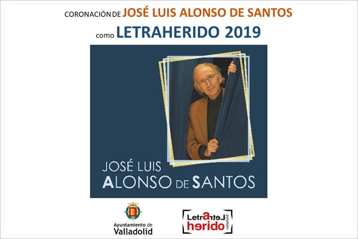 Foto de José Luis Alonso de Santos coronado Letraherido del año 2019