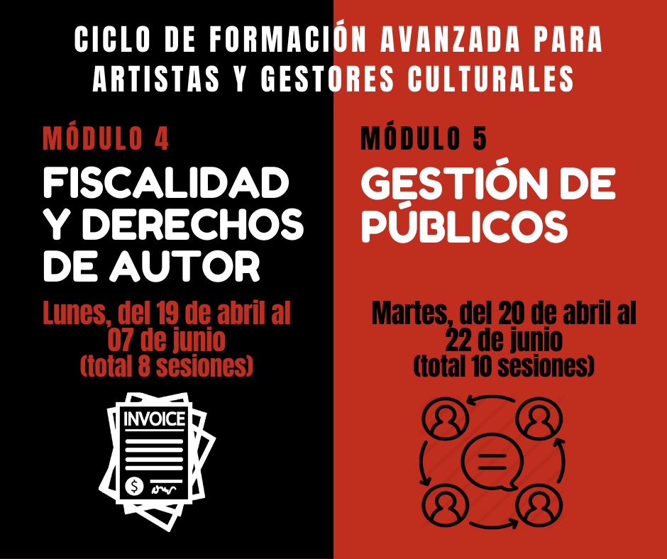 Foto de Ciclos de Formación avanzada para Artistas y Gestores Culturales desde Artemad y ElMuro