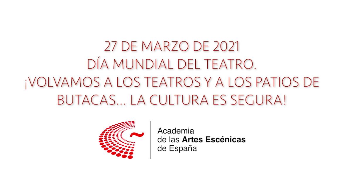 Foto de La Academia de las Artes Escénicas de España os desea un Feliz día Mundial del Teatro