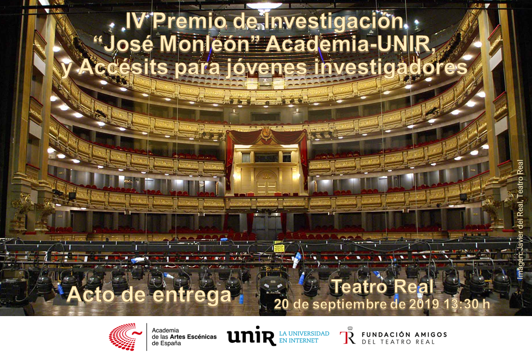 """Foto de Entrega del IV Premio de investigación """"José Monléon"""" Academia - UNIR"""