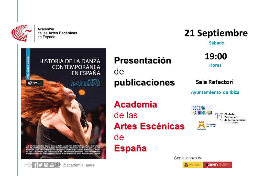 """Foto de Presentación en Ibiza """"Historia de la danza contemporánea en España (Vol.1)"""""""