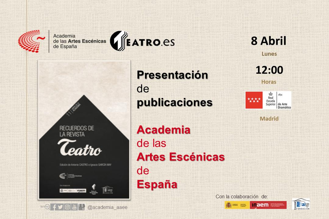 """Foto de Presentación del libro """"Recuerdos de la revista Teatro"""" en Madrid"""