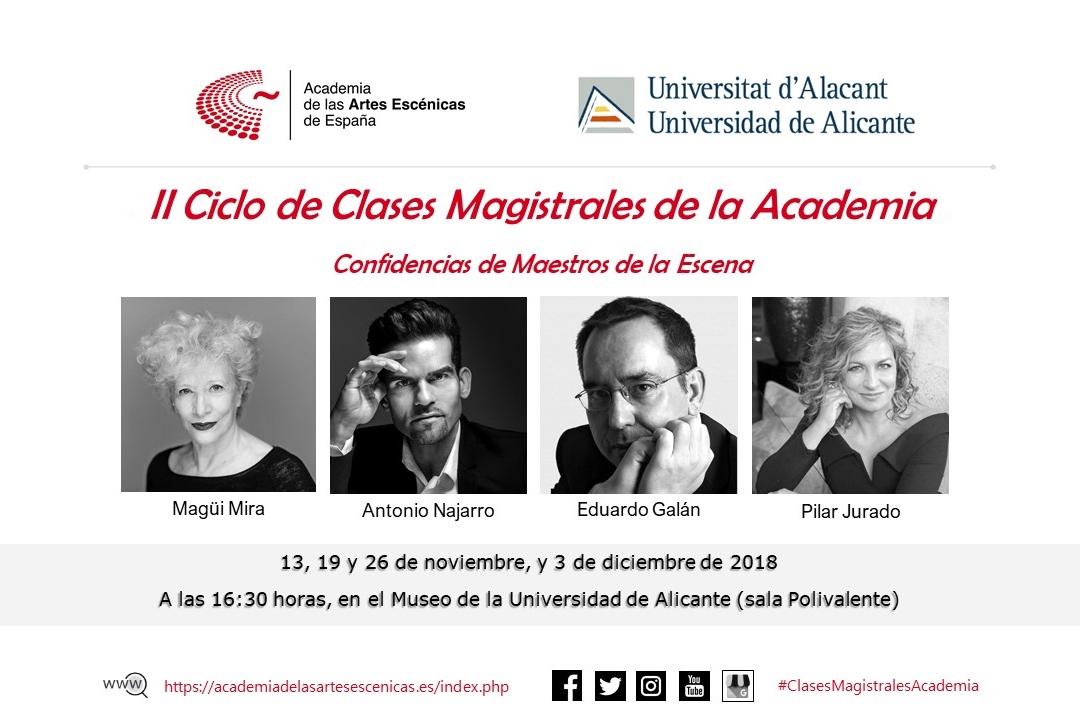"""Foto de II Ciclo de Clases Magistrales de la Academia """"Confidencias de maestros de la escena"""""""