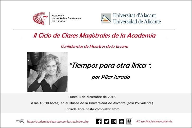 """Foto de Clausura en Alicante del II Ciclo de Clases Magistrales de la Academia """"Confidencias de maestros de la escena"""""""