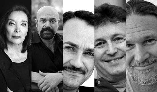 Foto de Nuria Espert, Adolfo Simón, Ignacio García May, Alfonso Zurro y Curt Allen Wilmer galardonados en los Premios ADE 2016.