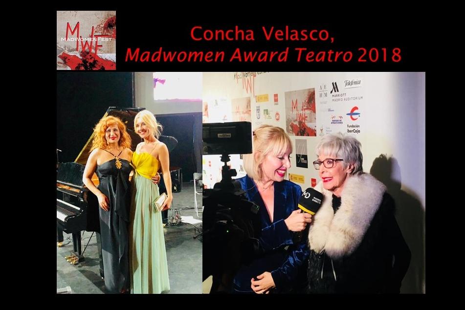 Foto de Concha Velasco reconocida con el Madwomen Award de Teatro 2018