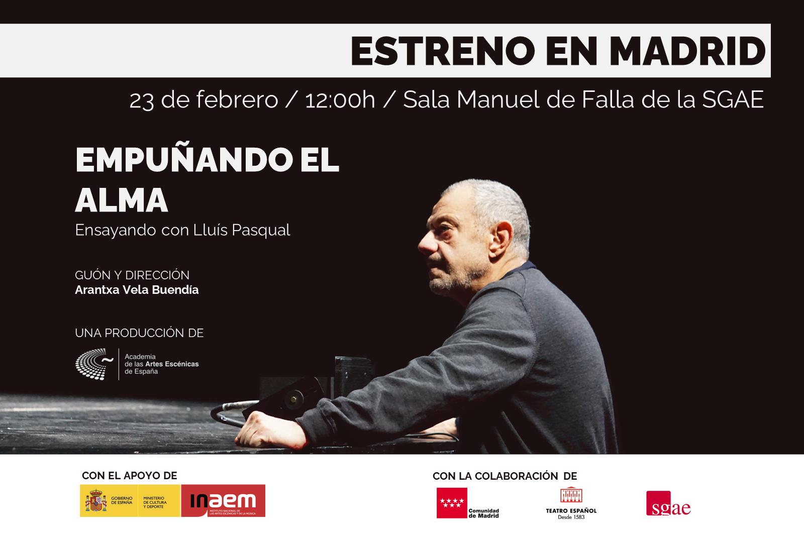 """Foto de La Academia estrena el documental """"Empuñando el alma: Ensayando con Lluís Pasqual"""""""