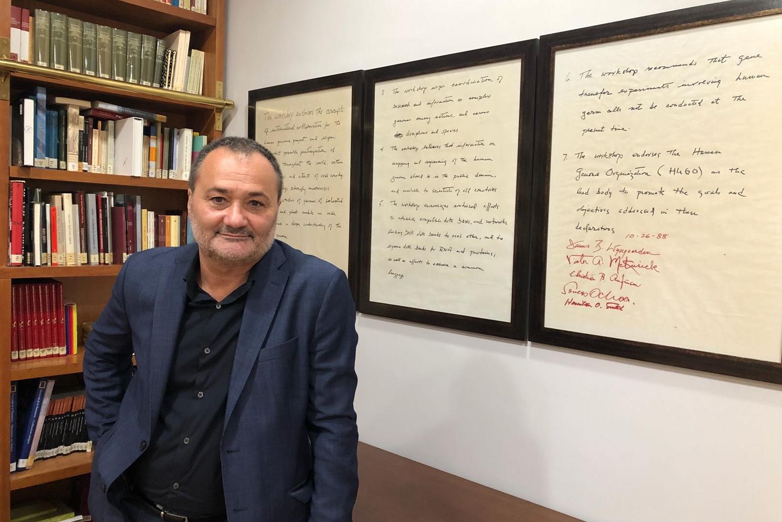 Foto de Francesc Sanguino en el Consell Valencià de Cultura