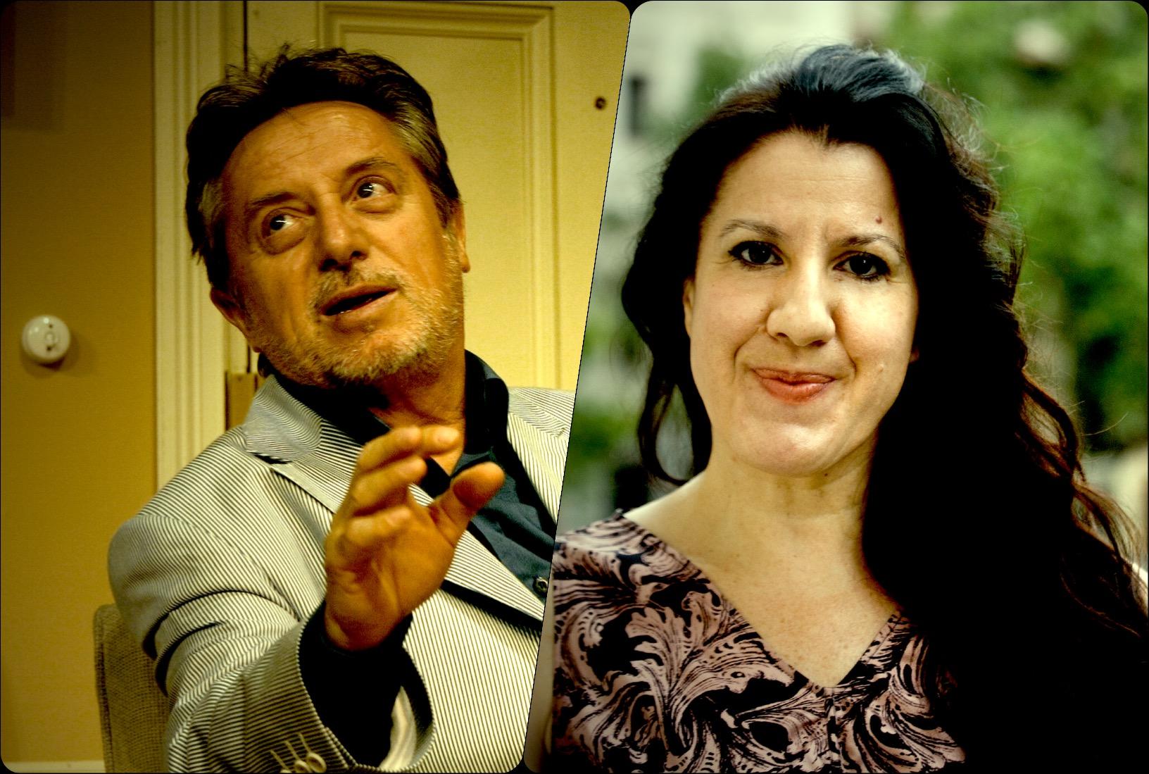 Foto de Los académicos Manuel Galiana y María Pagés, Medalla de Oro de las Bellas Artes