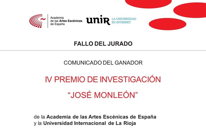 """Foto de Sergio Adillo Rufo obtiene el IV Premio de Investigación """"José Monleón"""" Academia-UNIR"""