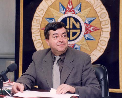 Foto de José Romera Castillo elegido miembro correspondiente de la Academia de la Lengua Chilena en España