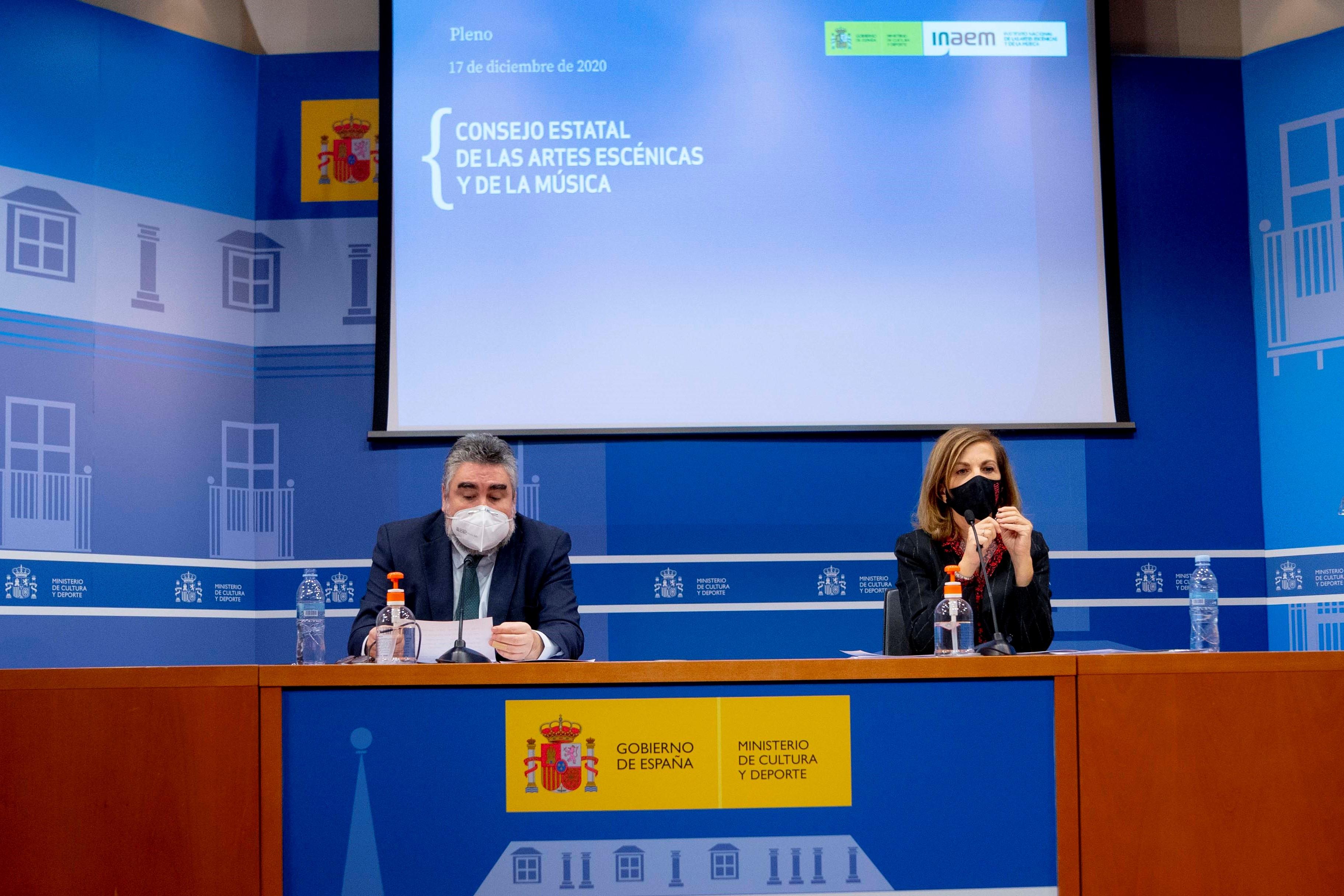 Foto de Reunión del ministro de Cultura y Deporte y la directora general del INAEM con el pleno del Consejo Estatal de las AA. EE. y de la Música