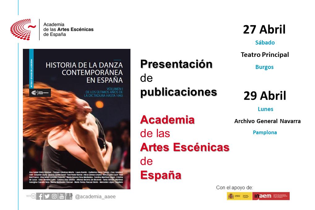 """Foto de Presentaciones en Burgos y en Pamplona de """"Historia de la danza contemporánea en España (Vol.1)"""""""