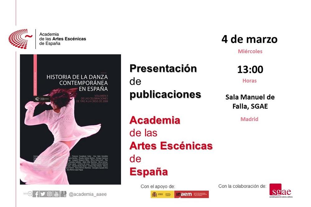 """Foto de La Academia presenta en Madrid el volumen II de """"Historia de la danza contemporánea en España"""""""
