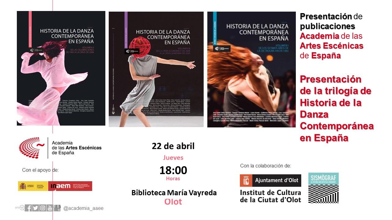 """Foto de Presentación de la trilogía ''Historia de la danza contemporánea en España"""" en Olot"""