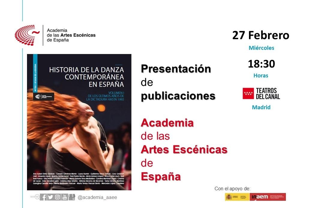 """Foto de Presentación en Madrid """"Historia de la danza contemporánea en España (Vol.1)"""""""