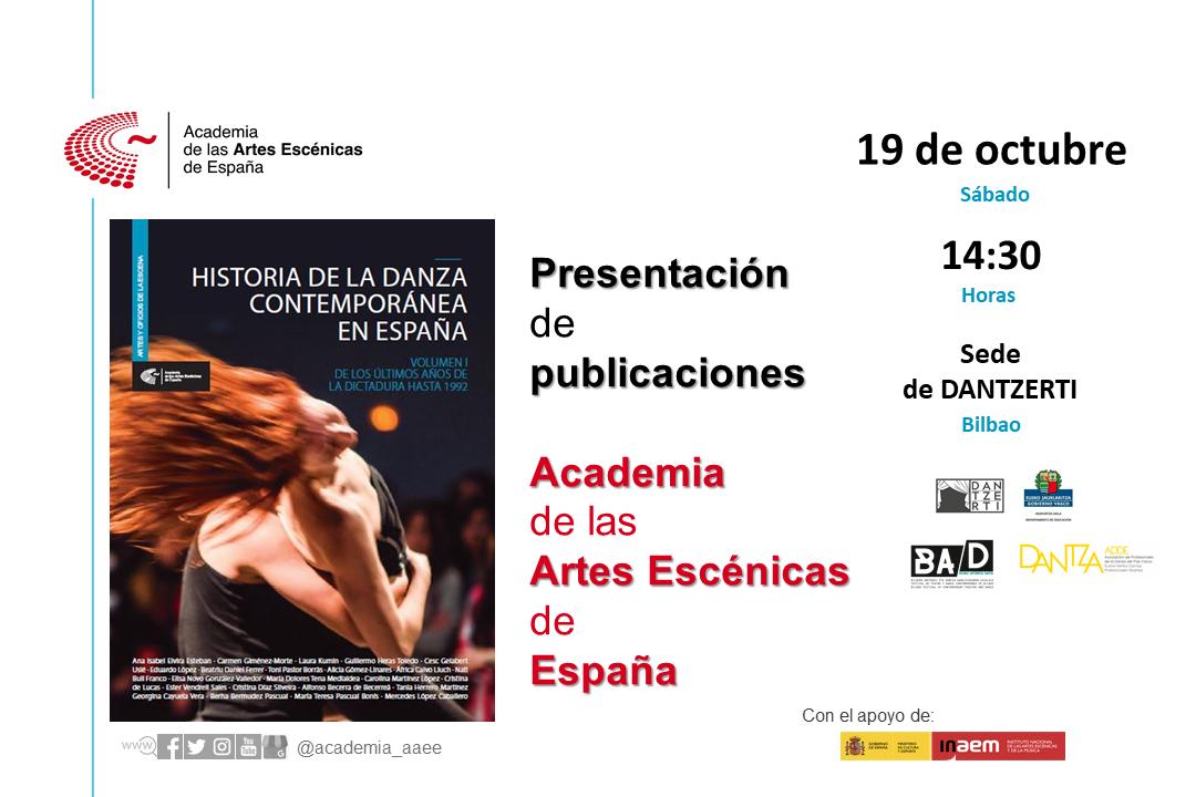 """Foto de Presentación en Bilbao """"Historia de la danza contemporánea en España (Vol.1)"""""""