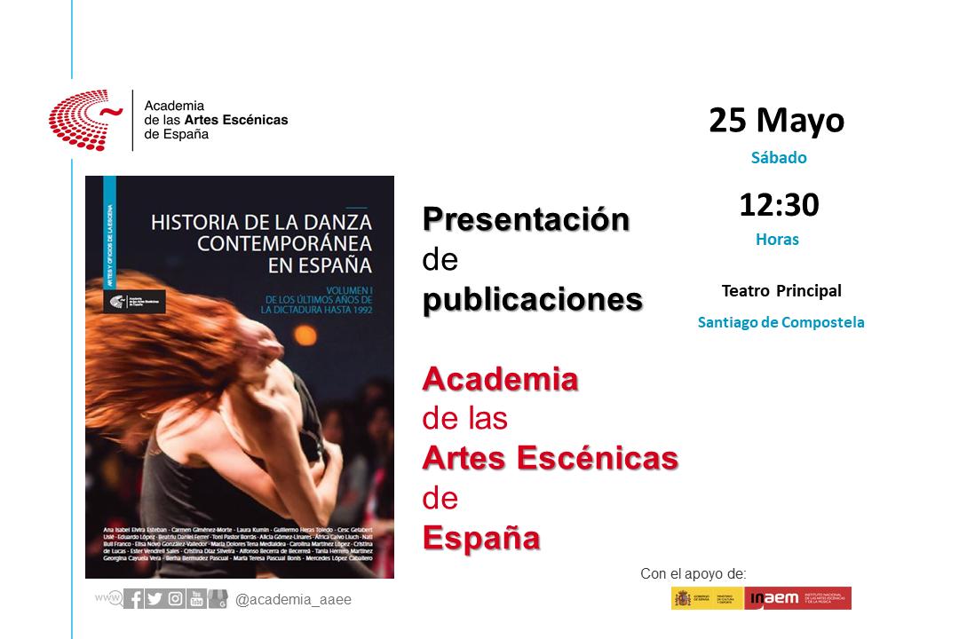 """Foto de Presentación en Santiago de Compostela """"Historia de la danza contemporánea en España (Vol.1)"""""""