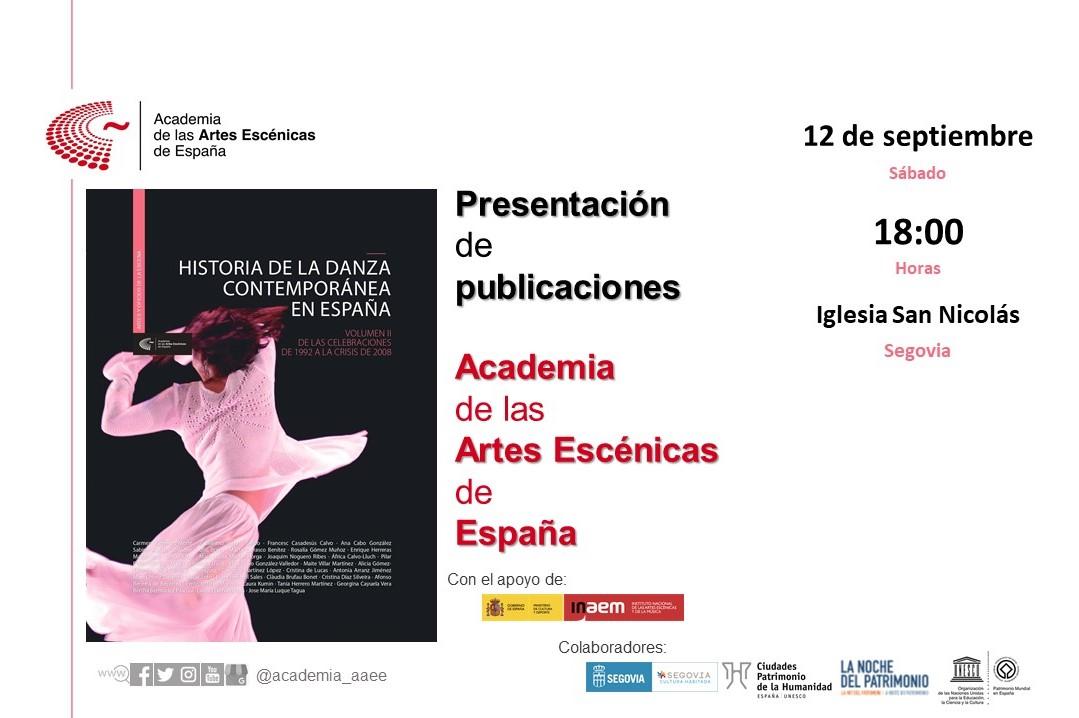 """Foto de Presentación en Segovia de """"Historia de la danza contemporánea en España"""" (volumen 2)"""