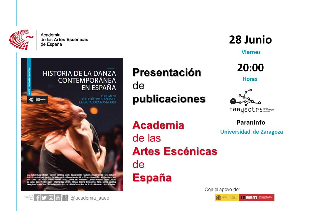 """Foto de Presentación en Zaragoza """"Historia de la danza contemporánea en España (Vol.1)"""""""