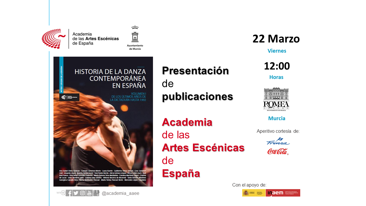 """Foto de Presentación en Murcia """"Historia de la danza contemporánea en España (Vol.1)"""""""
