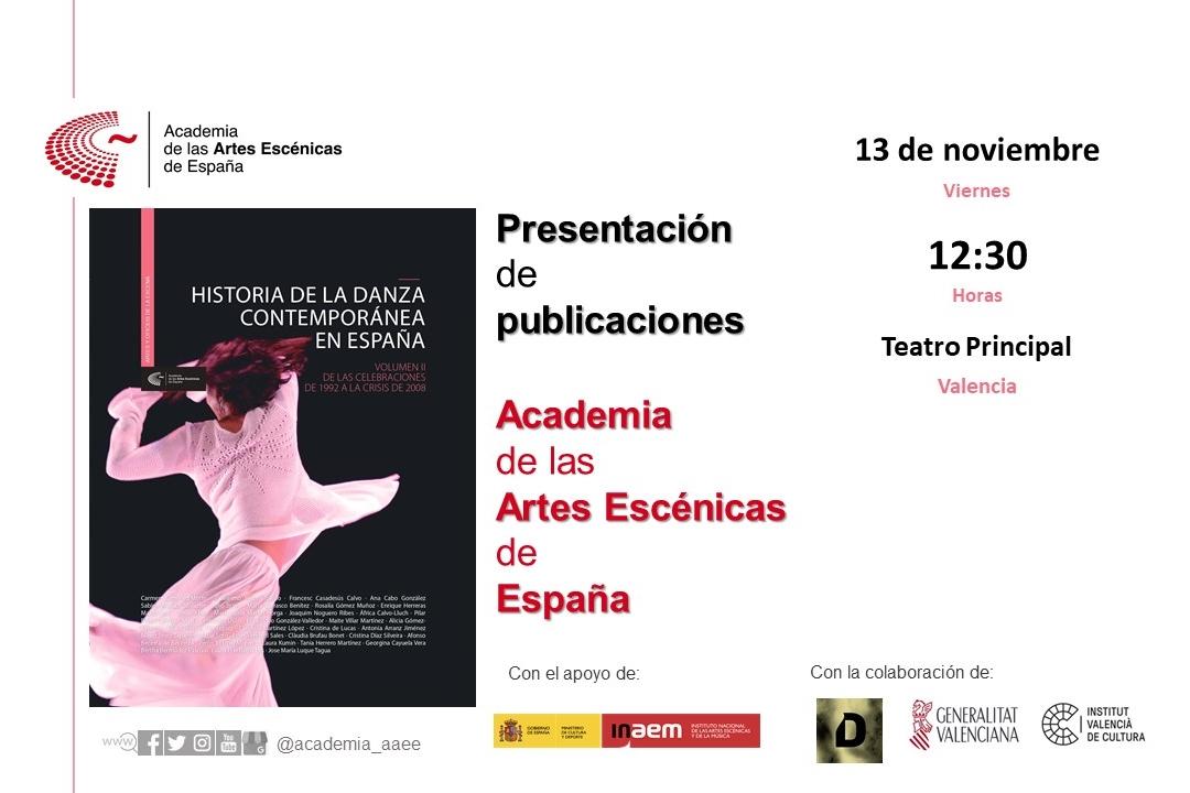 """Foto de Presentación en Valencia de """"Historia de la danza contemporánea en España"""" (volumen 2)"""