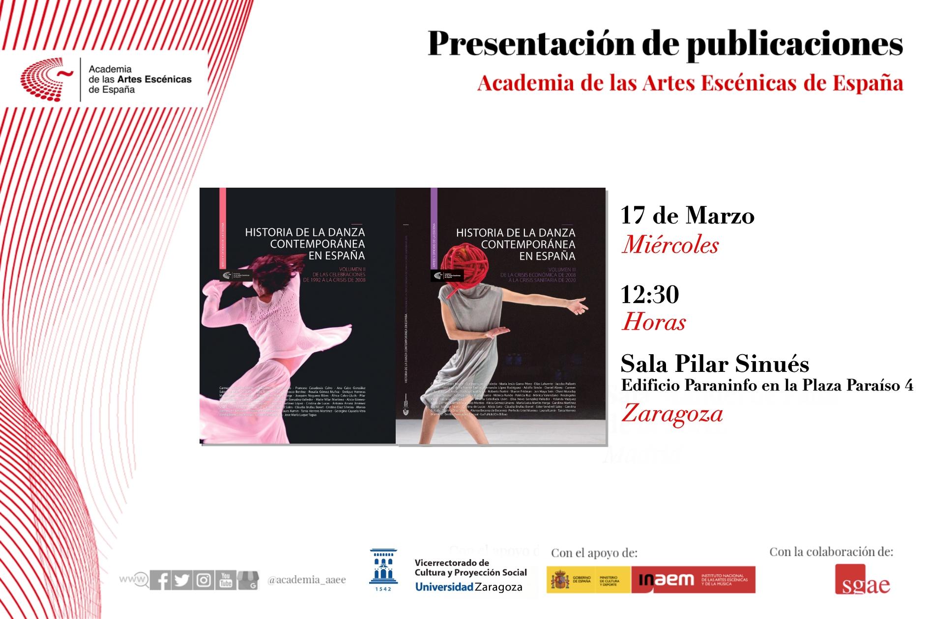 Foto de Presentación de Historia de la Danza Contemporánea en España (Volúmenes II y III) en Zaragoza
