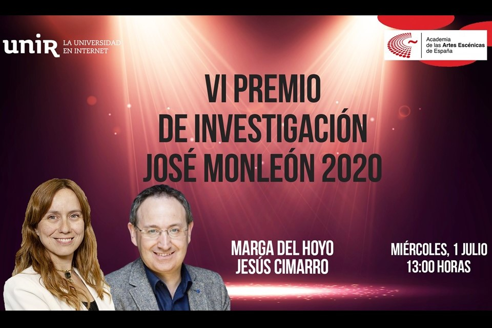 """Foto de Presentación en línea del Premio de Investigación """"José Monleón"""" Academia-UNIR"""