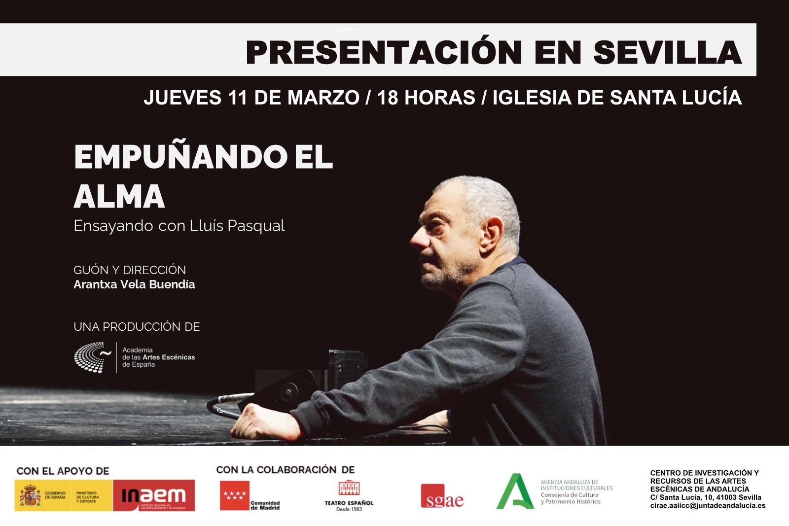 """Foto de La Academia presenta el documental """"Empuñando el alma: Ensayando con Lluís Pasqual"""" en Sevilla"""