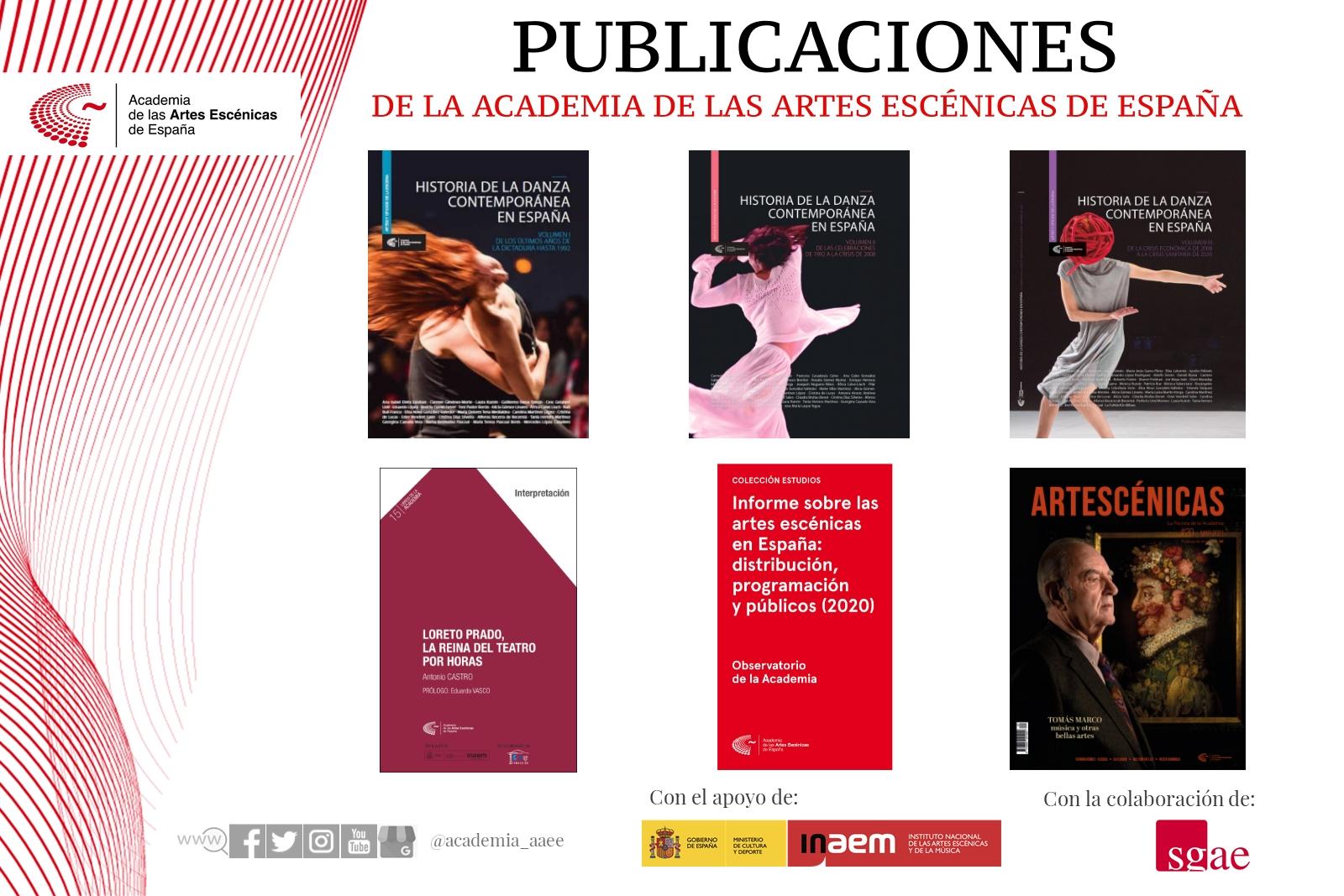 Foto de Publicaciones recientes de la Academia de las Artes Escénicas de España